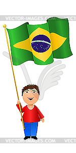 Flag of brazil clipart.