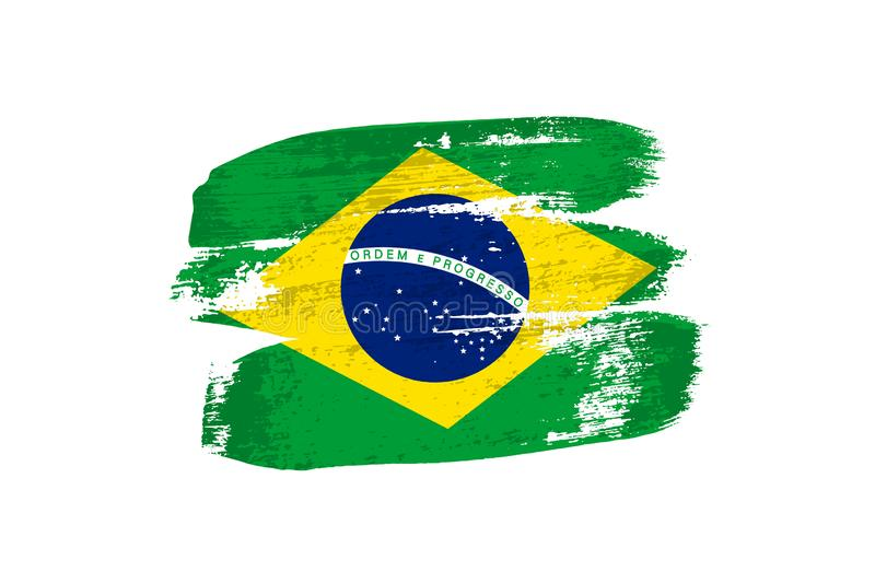 Brazilian Flag Stock Illustrations.