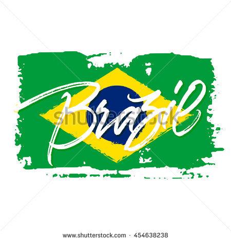 Brazil Flag Painted Lizenzfreie Bilder und Vektorgrafiken kaufen.