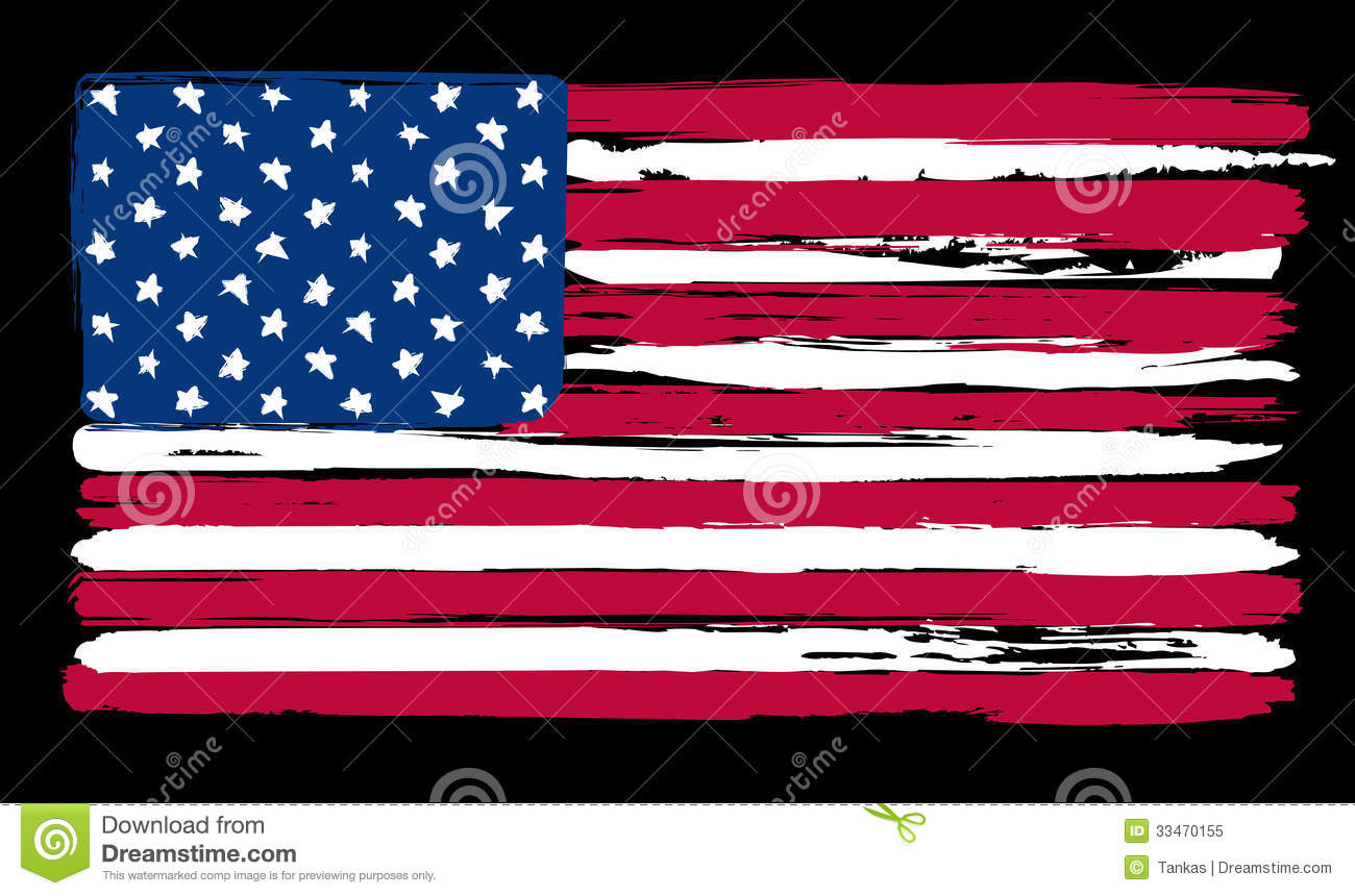 American Flag Paint Clipart.