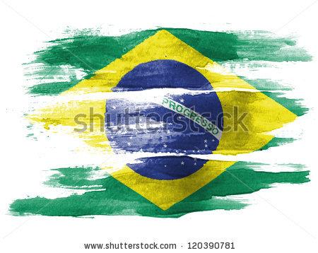Brazilian Flag Stock Images, Royalty.