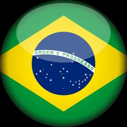 Brazil flag icon.