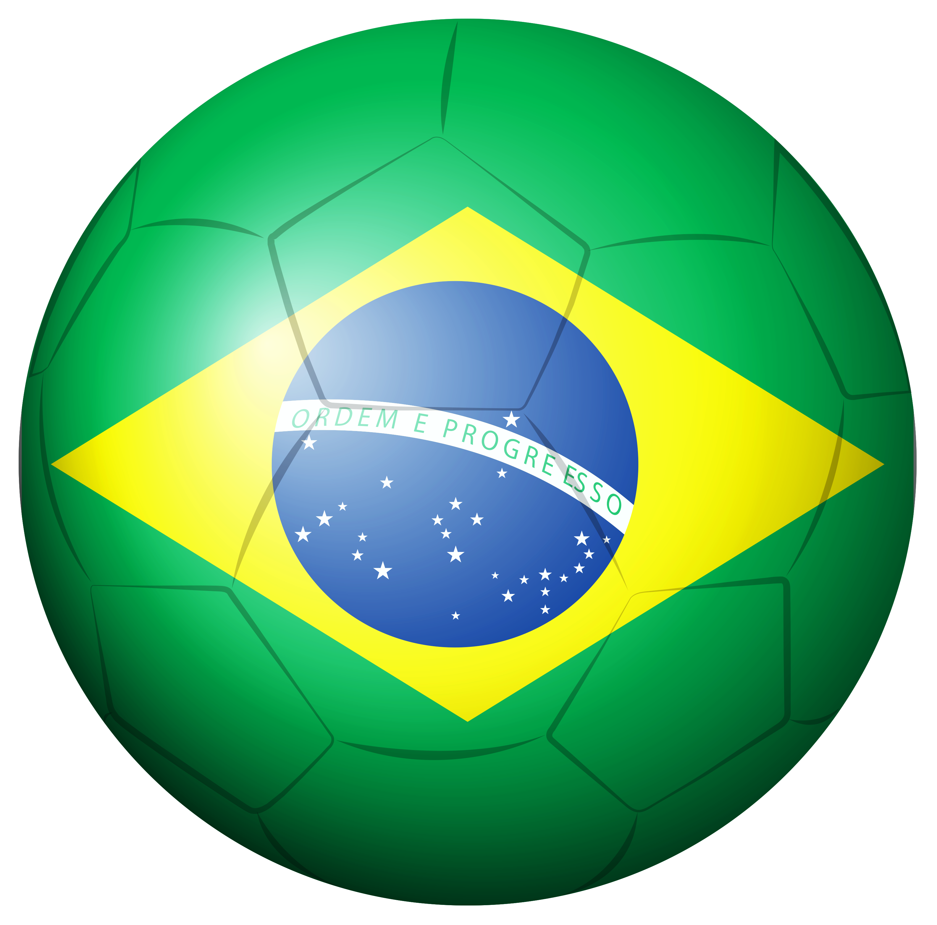 Brazil Soccer Ball PNG Clipart Picture.