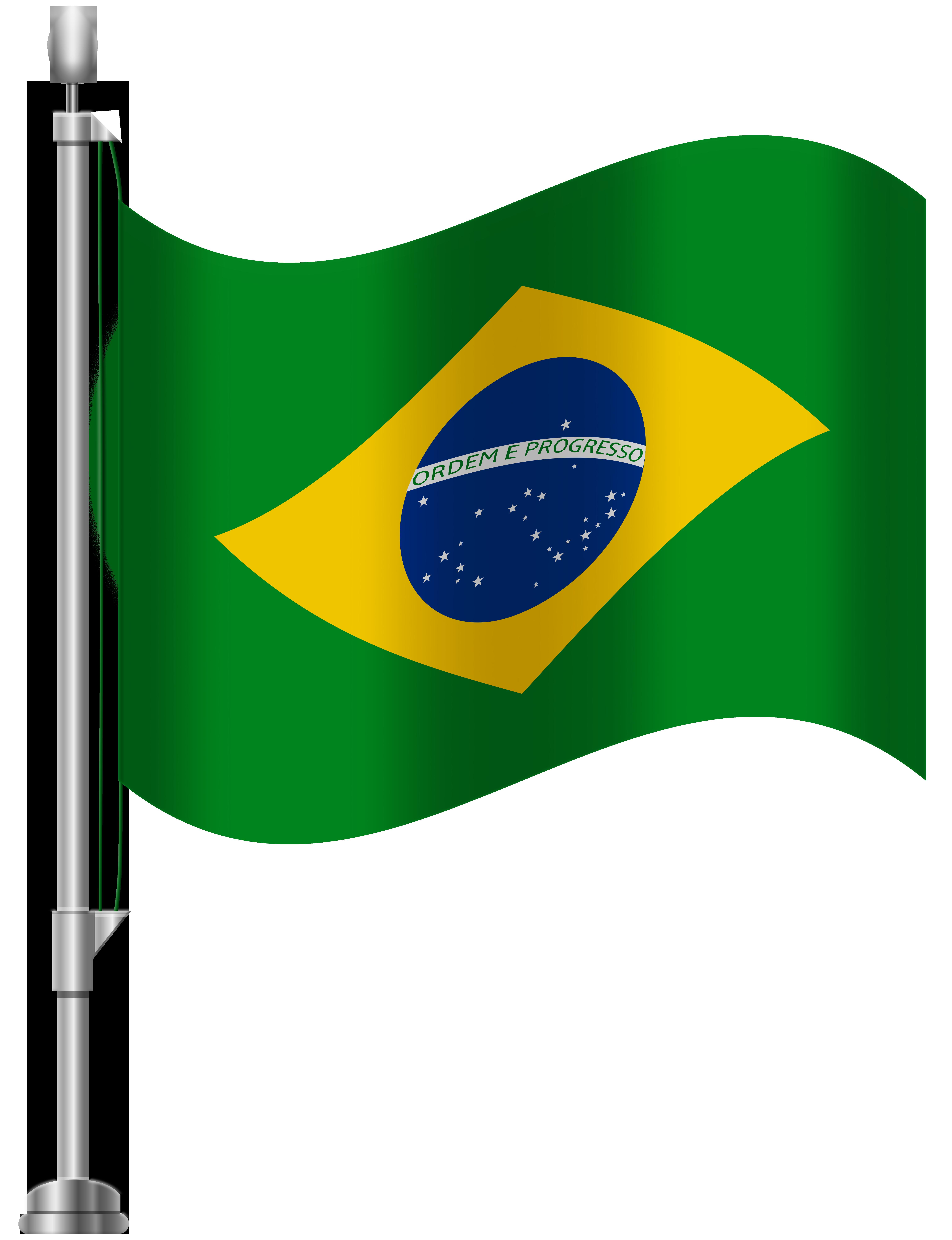 Brazil Flag PNG Clip Art.