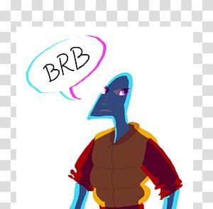 BRB transparent background PNG clipart.