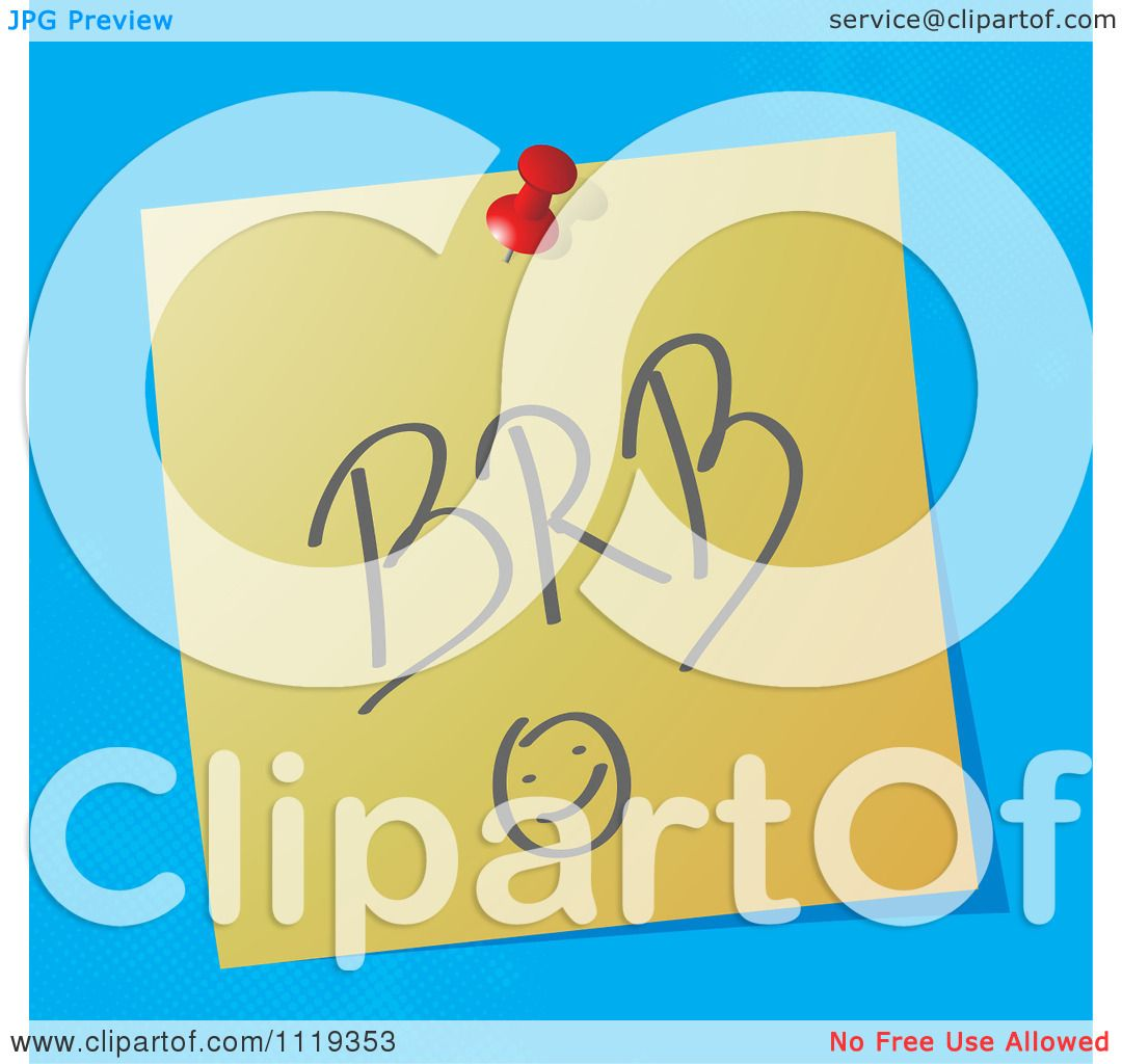 Brb clipart 4 » Clipart Station.