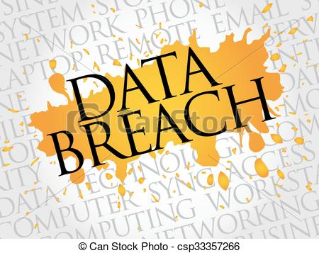 Clip Art Vector of Data Breach word cloud concept csp33357266.