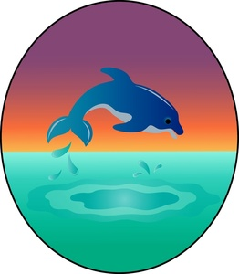 Dolphin Clipart Image.