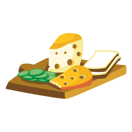Cheese bread cartoon.