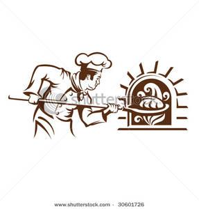 Art Image: A Baker Baking Bread.