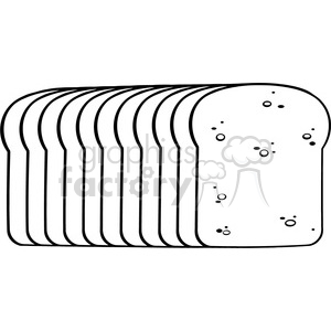 illustration black and white cartoon bread loaf vector illustration  isolated on white background clipart. Royalty.