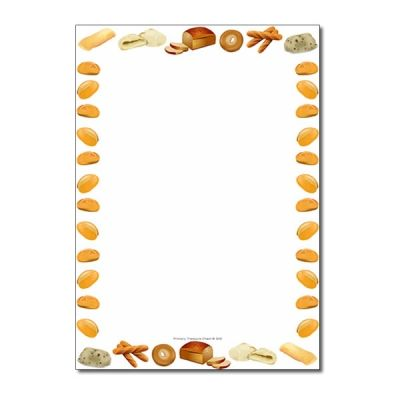 Bread Themed Page Borders/Writing Frames (no lines).