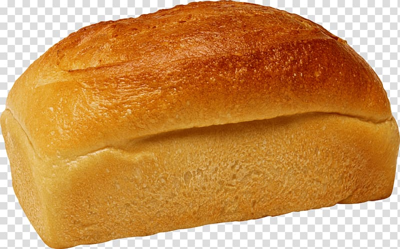 White bread Bakery Loaf, bread roll transparent background PNG.