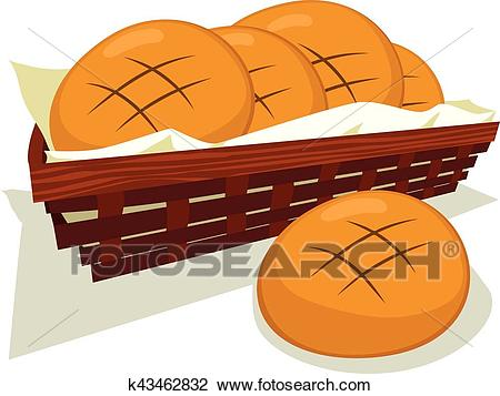 Bread Bun Basket Clipart.