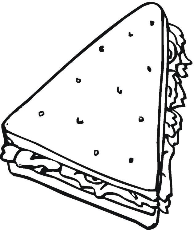Sub Sandwich coloring sheets.