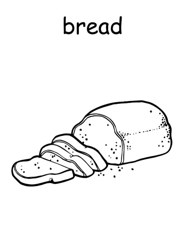 Bread Coloring Pages.