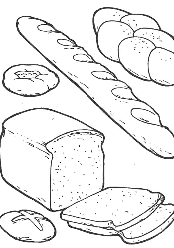 Bread Clipart To Color