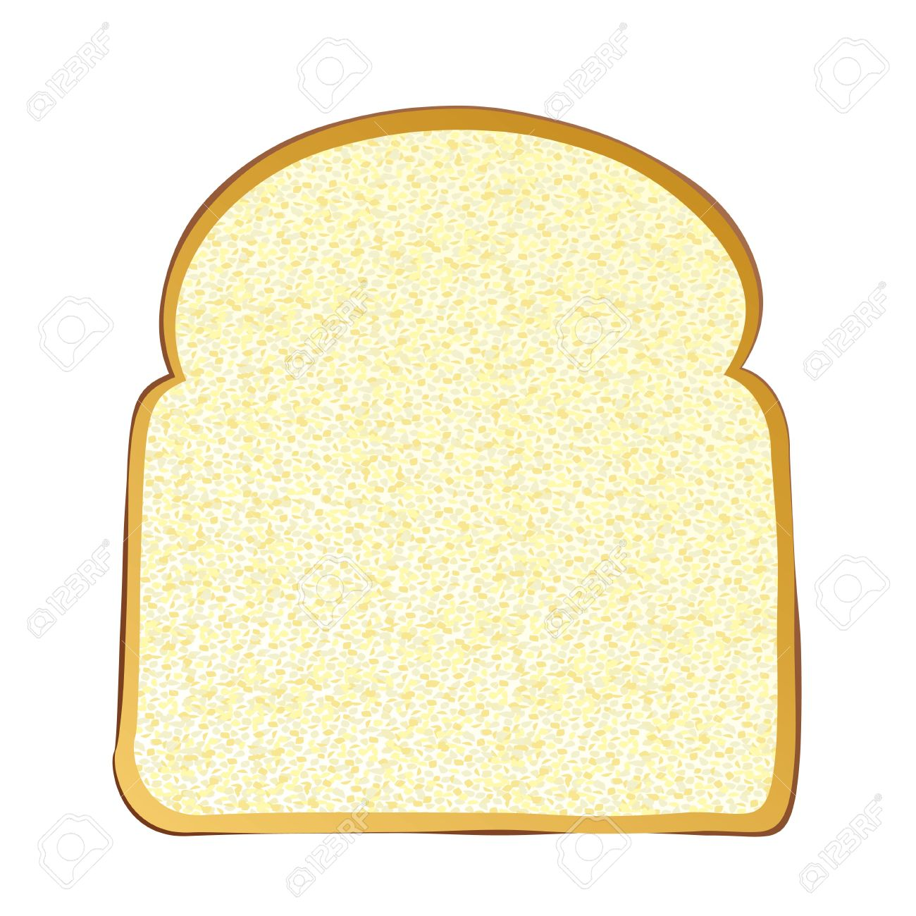 Single Slice Of Wholemeal White Bread With Crust Stock Photo.