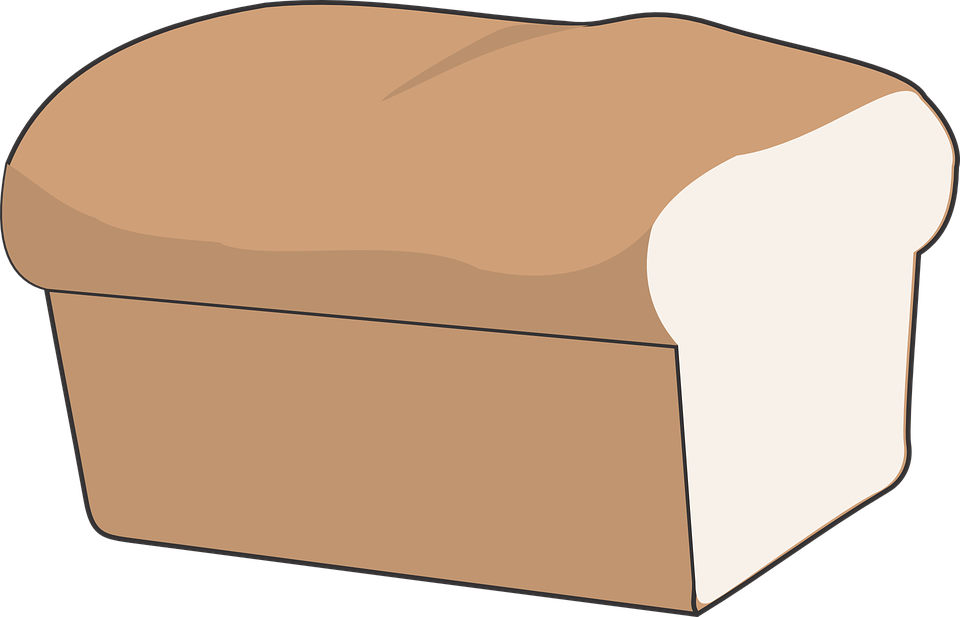 Free vector graphic: Bread, Loaf, Cut, White, Isolated.