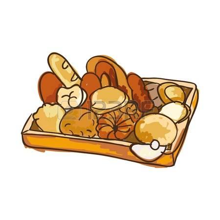 Bread dough mix box clipart.