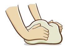 Kneading clipart #1