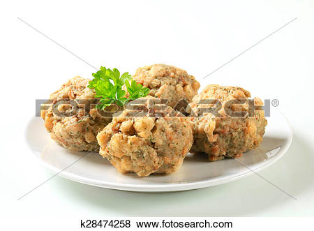 Pictures of German bread dumplings k28474258.