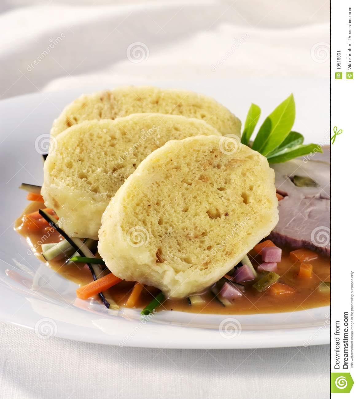 Bread Dumplings Stock Image.