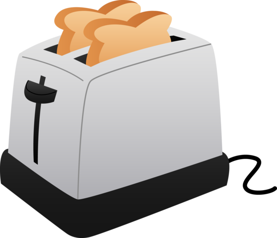Bread toaster clipart.