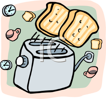 Bread Popping Out of a Toaster.
