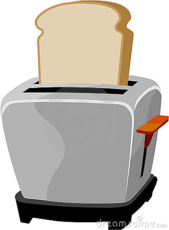 Cute toaster clipart.