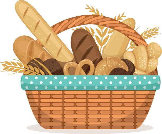 Best Bread Basket Illustrations, Royalty.