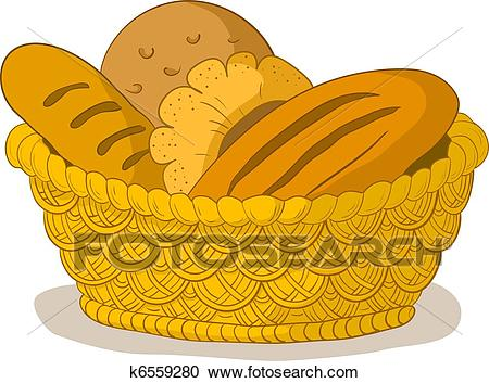 Bread in a basket Clipart.