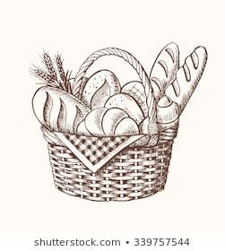 Bread basket clipart black and white 5 » Clipart Portal.