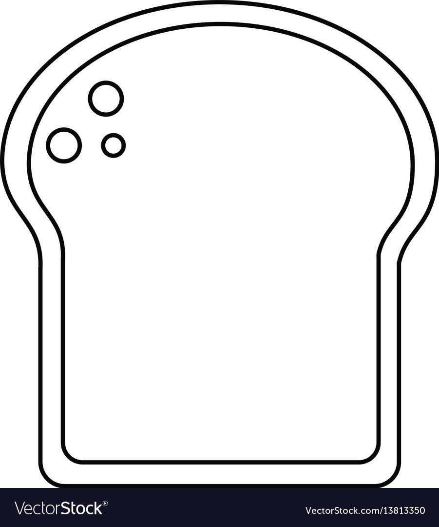 Slice of bread outline clipart 5 » Clipart Portal.