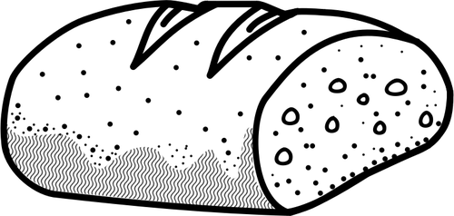 Outline vector image of bread.