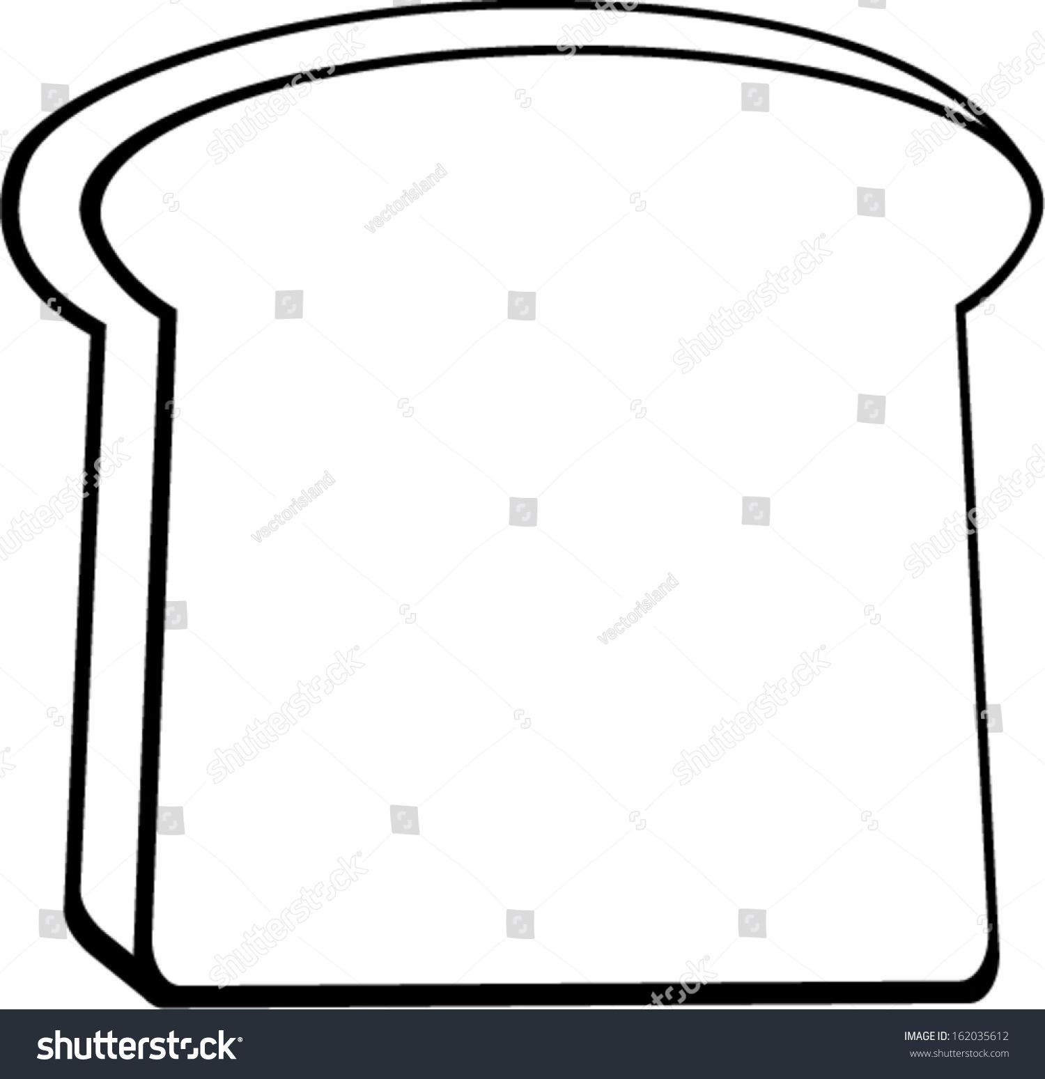 Slice Of Bread Outline.