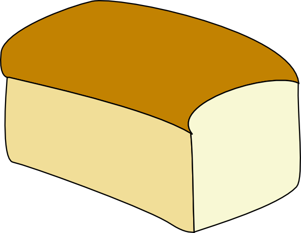 Loaf of Bread Outline.