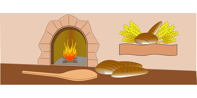 Free vector graphic: Baker, Oven, Fire, Bread, Bakery.