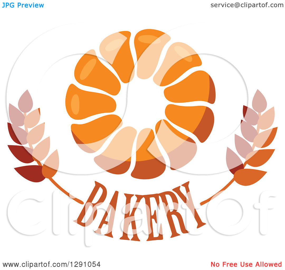 Clipart of a Pull Apart, Croissant, or Monkey Bread Ring over.