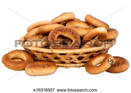 Picture of basket with dry bread.