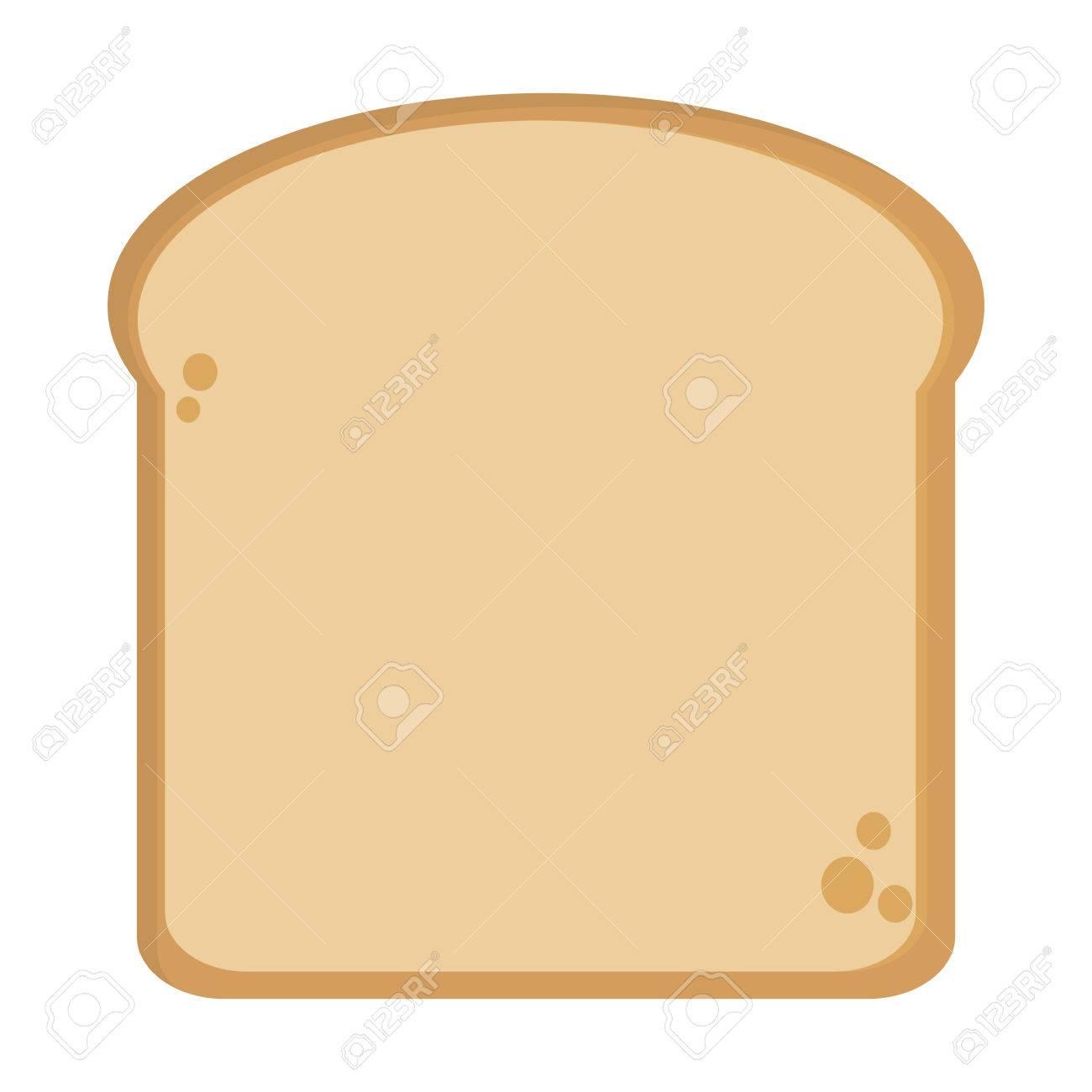 Single bread slice icon » Clipart Station.