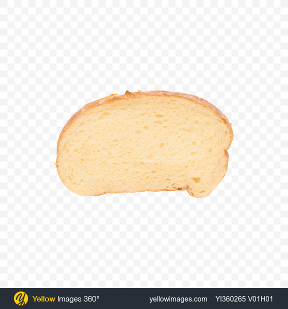 Download Wheat Bread Slice Transparent PNG on Yellow Images 360°.