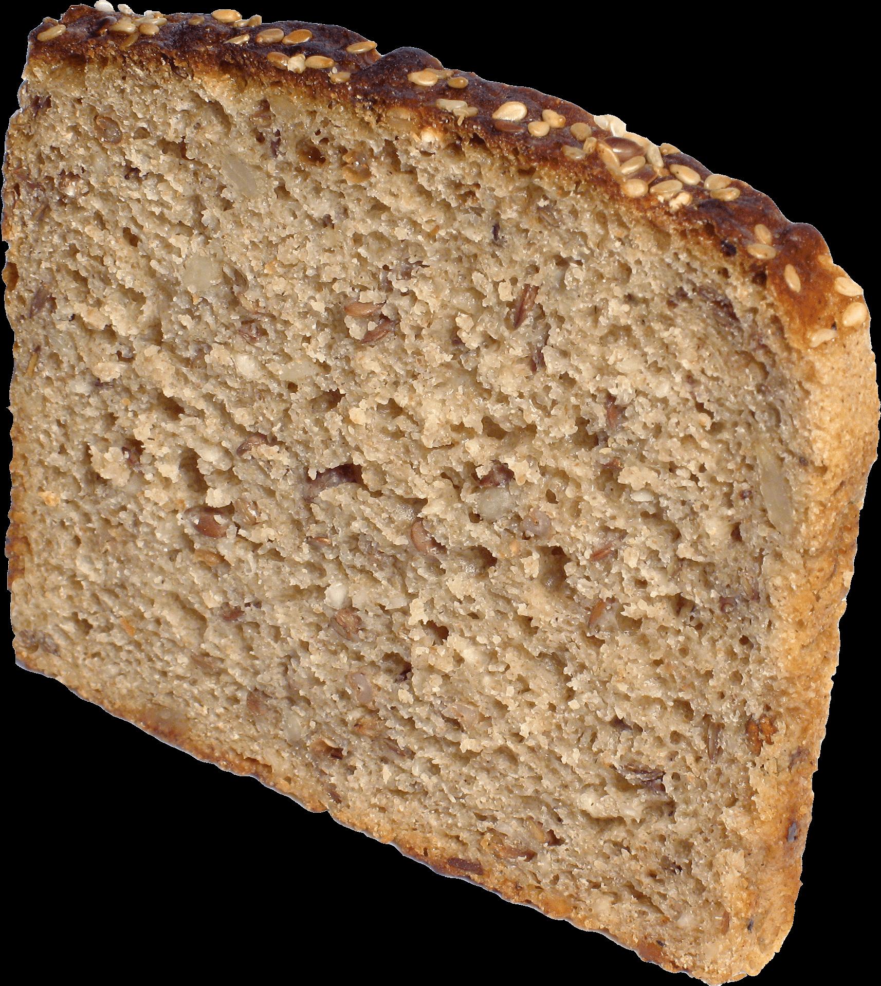 Slice Of Brown Bread transparent PNG.