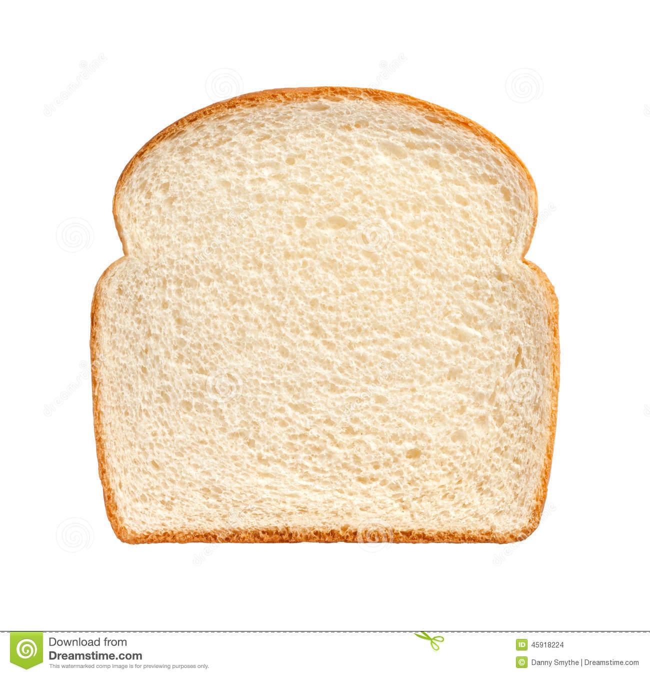 Bread Slice isolated stock photo. Image of crust, isolated.