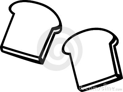 Slices Bread Stock Illustrations.
