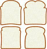 Clip Art of A pack of sliced bread k20539629.