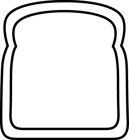 Slice Of Bread Clipart Black And White.