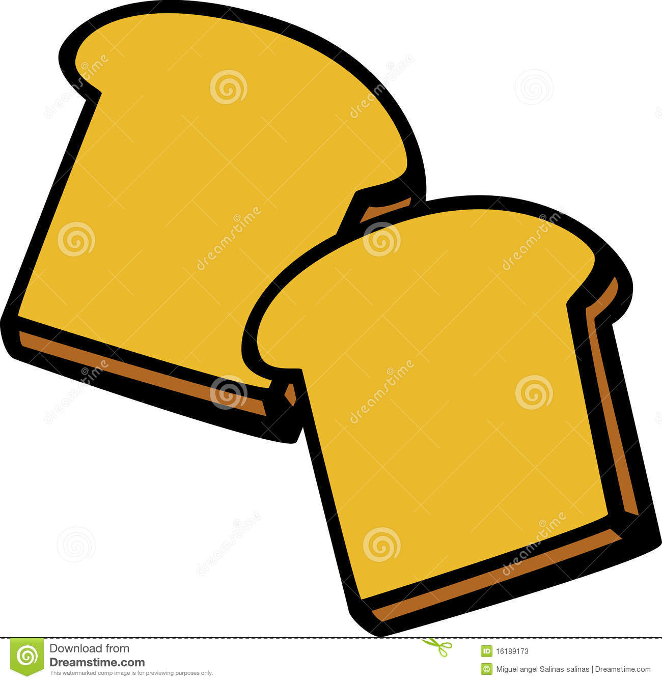 Slices of bread clipart.