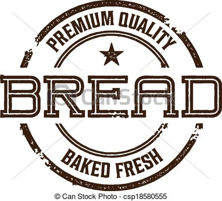 Clipart Vector of Vintage Style Bread Sign.