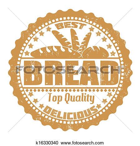 Clipart of Bread stamp k16330340.